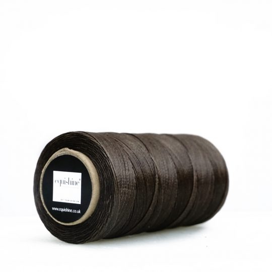 Equishine Flat Waxed Thread Brown