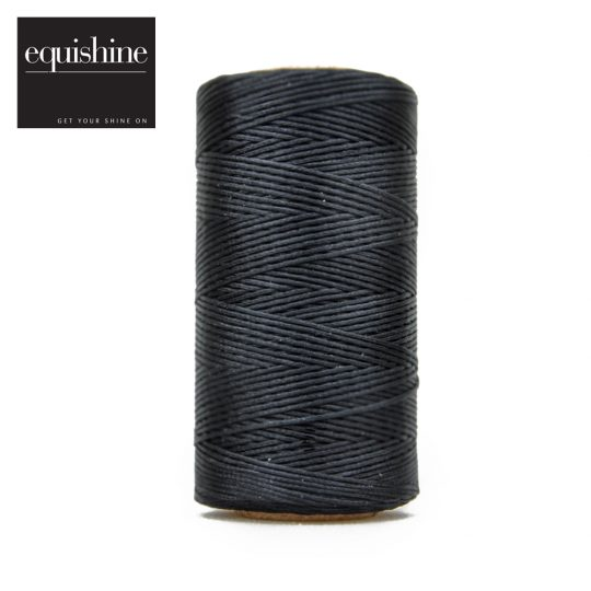 Equishine Flat Waxed Plaiting Thread Black
