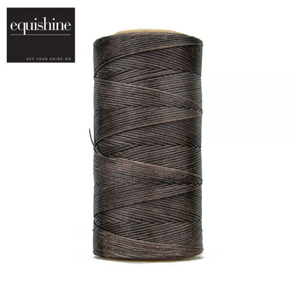 Equishine Flat Waxed Plaiting Thread Brown