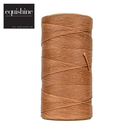 Equishine Flat Waxed Plaiting Thread Chestnut