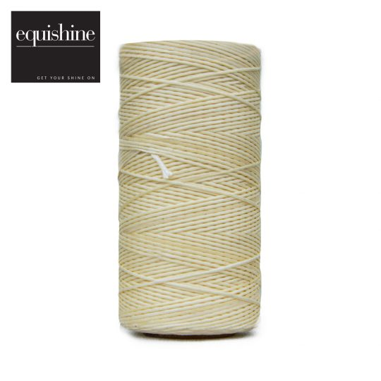 Equishine Flat Waxed Plaiting Thread Cream