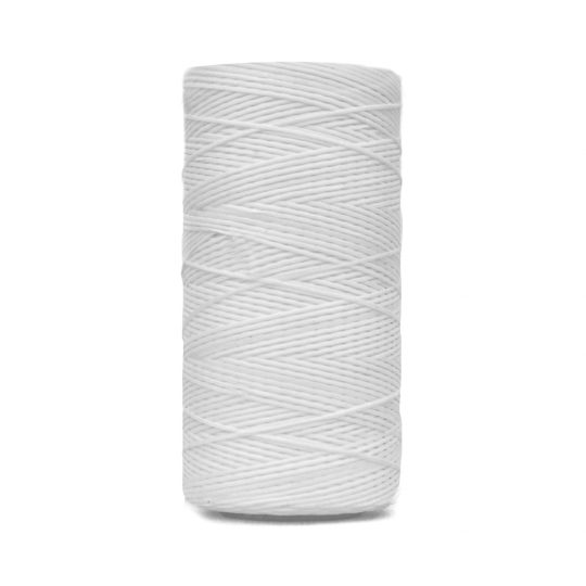 Equishine Flat Waxed Plaiting Thread White
